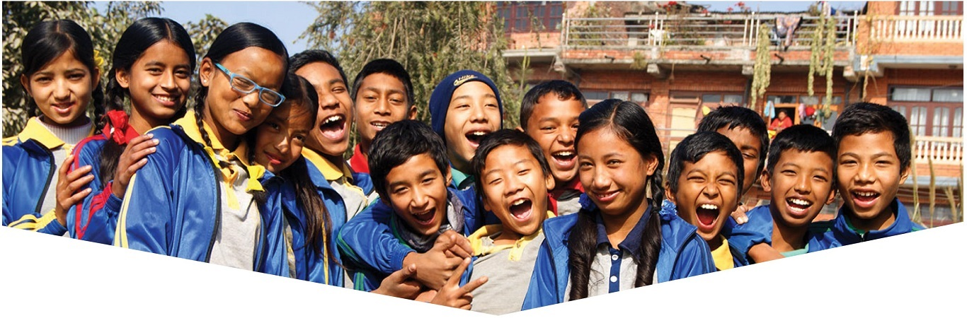 Laughing young students